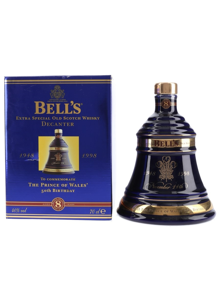 Bell's Ceramic Decanter The Prince Of Wales' 50th Birthday 70cl / 40%