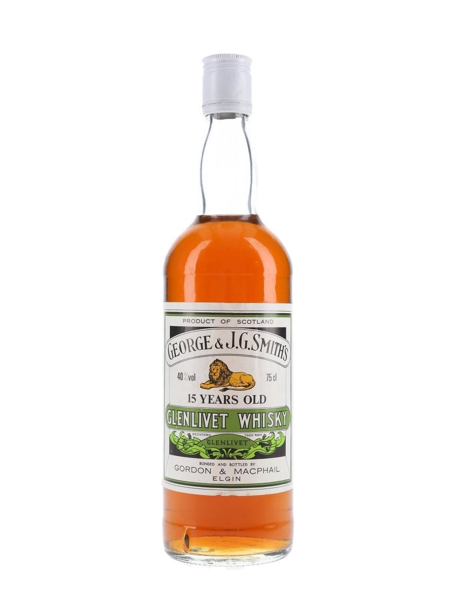 Glenlivet 15 Year Old Bottled 1980s - Gordon & MacPhail 75cl / 40%