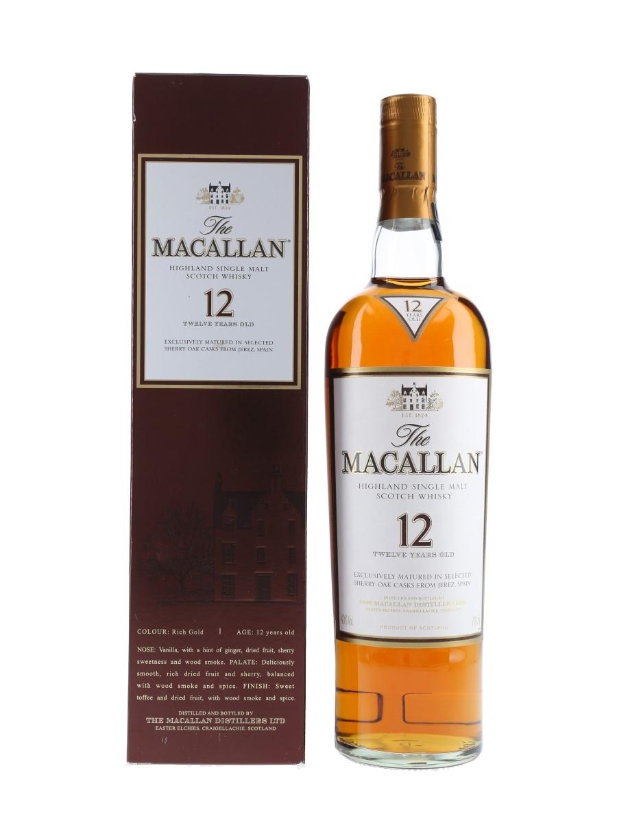 Macallan 12 Year Old Sherry Oak 70cl / 40%