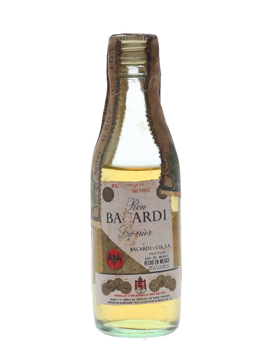 Bacardi Carta De Oro Bottled 1960s-1970s - Wax & Vitale 4.6cl / 40%