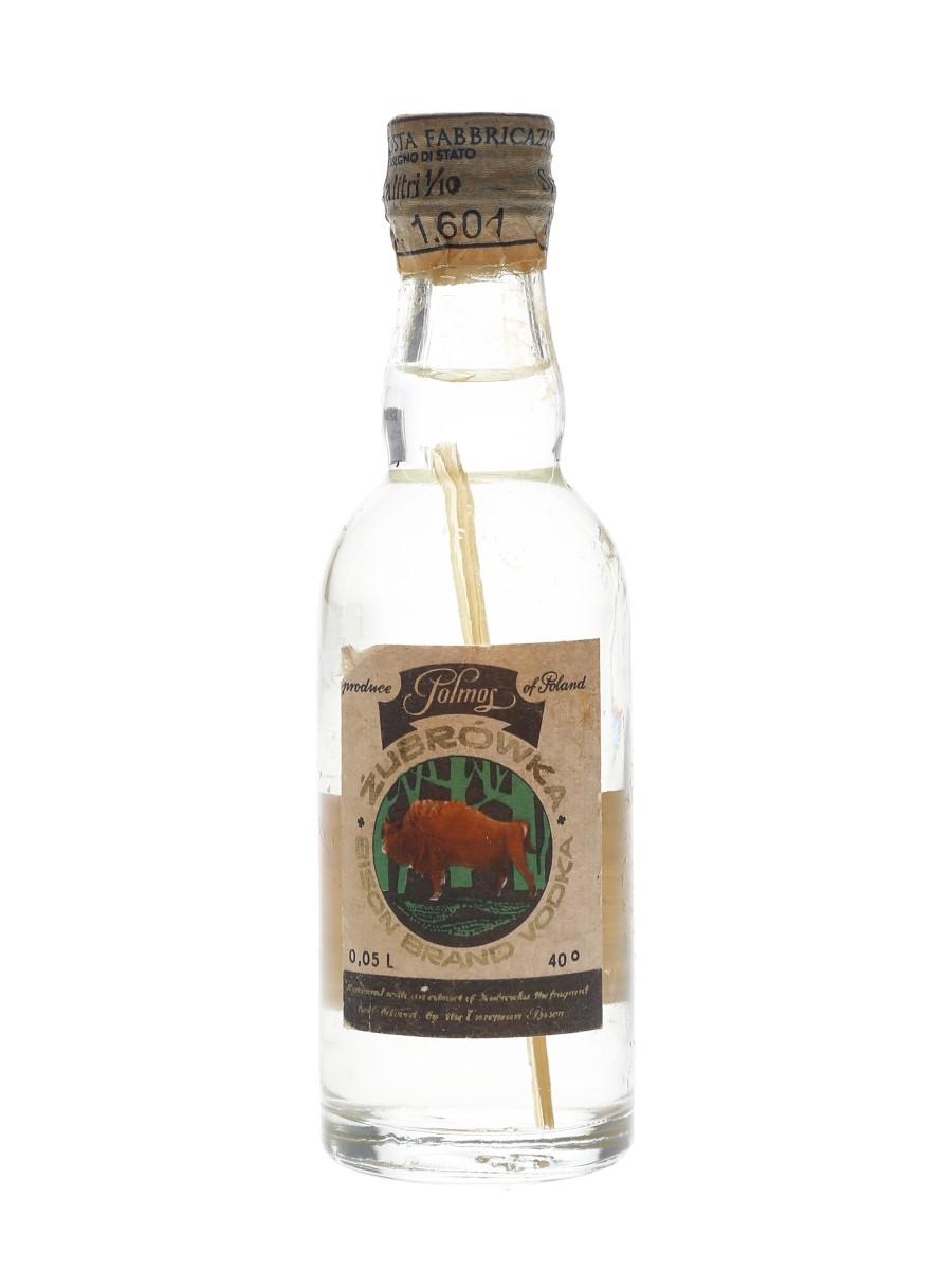 Zubrowka Bison Brand Vodka Bottled 1970s - Rinaldi 5cl / 40%