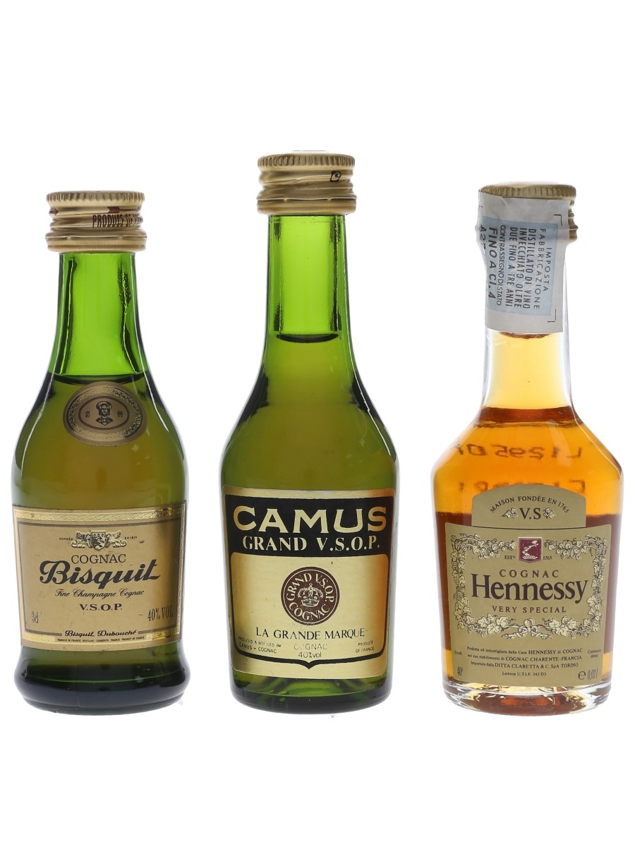 Bisquit, Camus & Hennessy  3 x 3cl-5cl / 40%