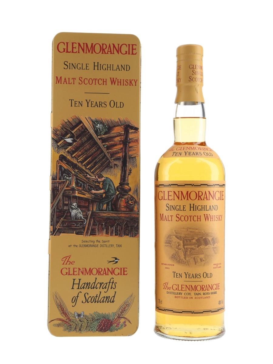 Glenmorangie 10 Year Old Bottled 1990s - Handcrafts Of Scotland Tin 70cl / 40%