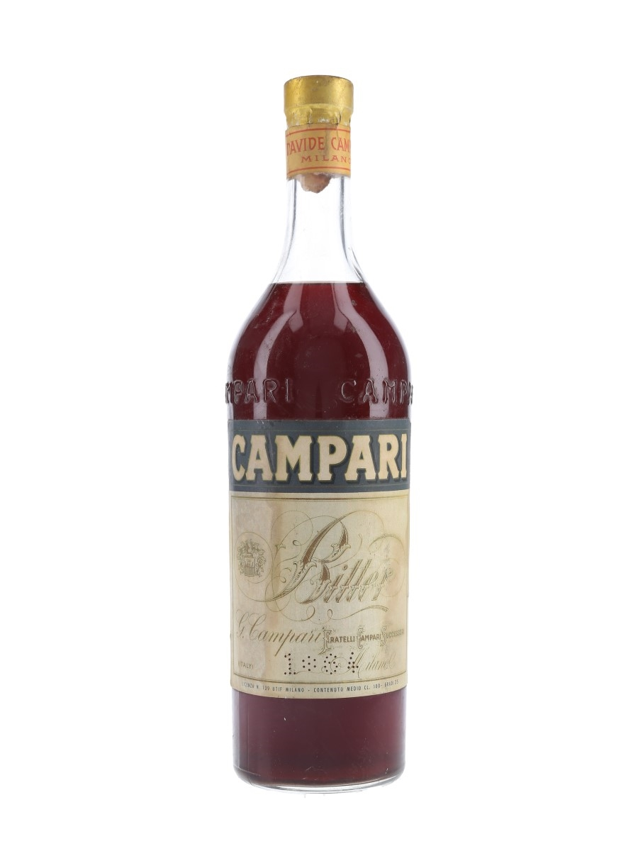 Campari Bitter Bottled 1960s 100cl / 25%
