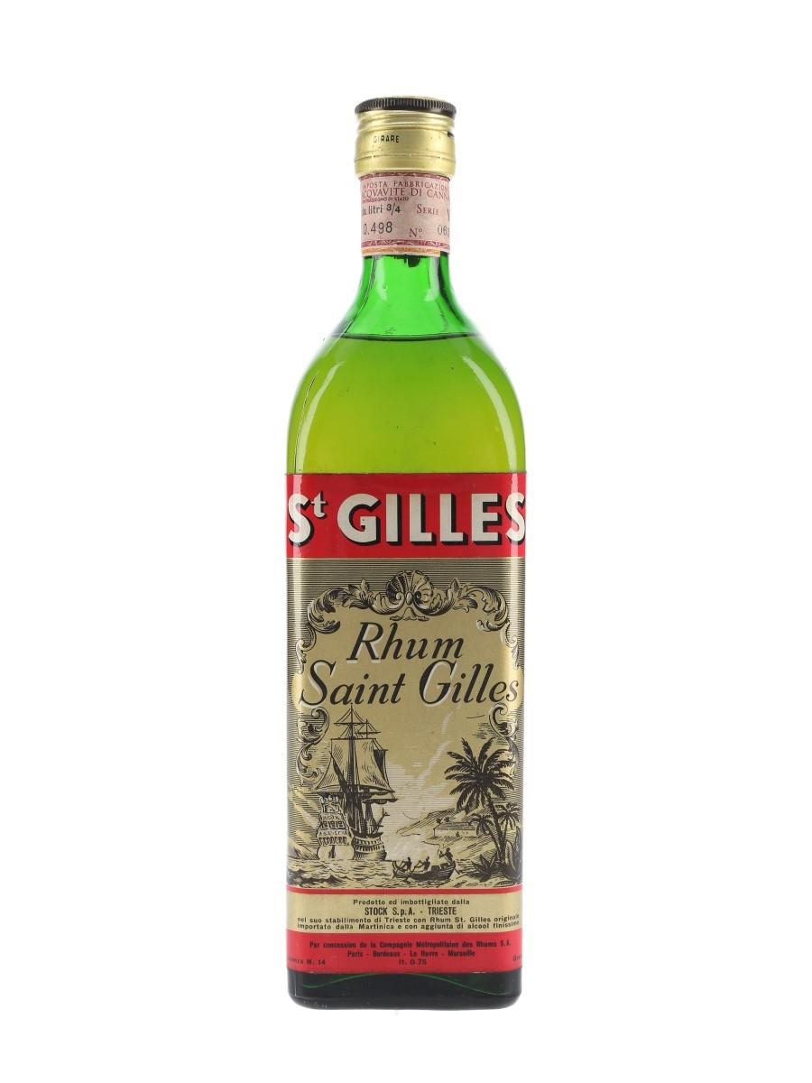 Saint Gilles Rhum Bottled 1960s - Stock 75cl / 45%