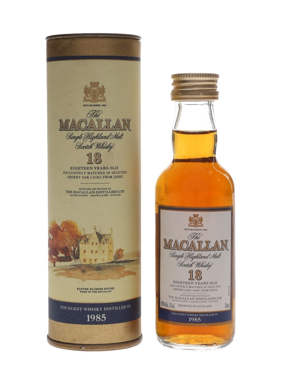Macallan 18 Year Old Youngest Whisky Distilled In 1985 - Remy Amerique 5cl / 43%