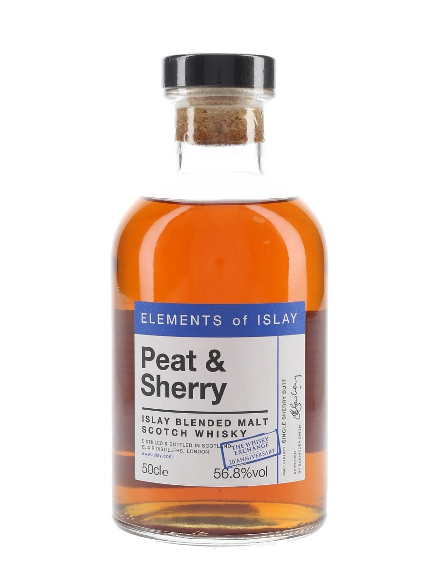 Elements of Islay Peat & Sherry Elixir Distillers - The Whisky Exchange 20th Anniversary 50cl / 56.8%