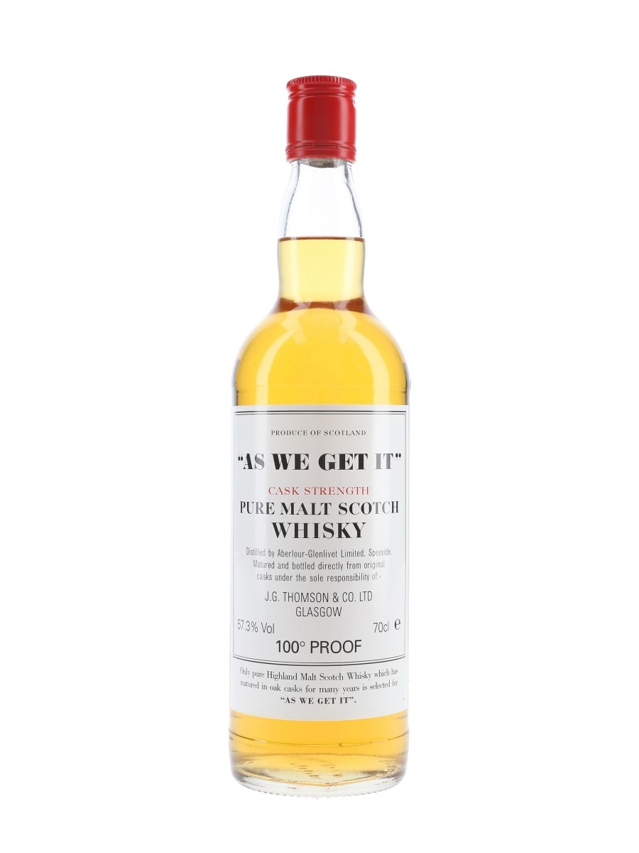 Aberlour Glenlivet As We Get It J G Thomson & Co. 70cl / 57.3%