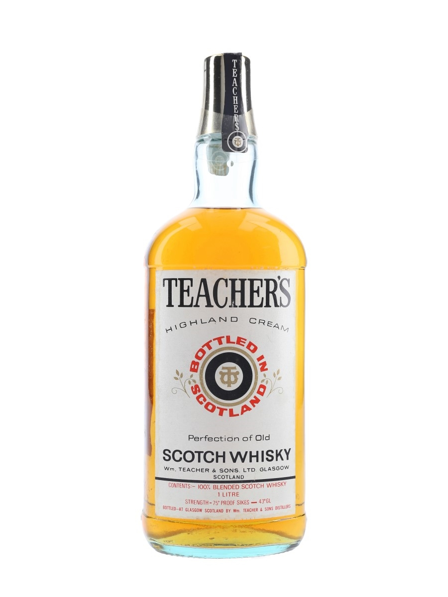 Teacher's Highland Cream Bottled 1970s 100cl / 43%