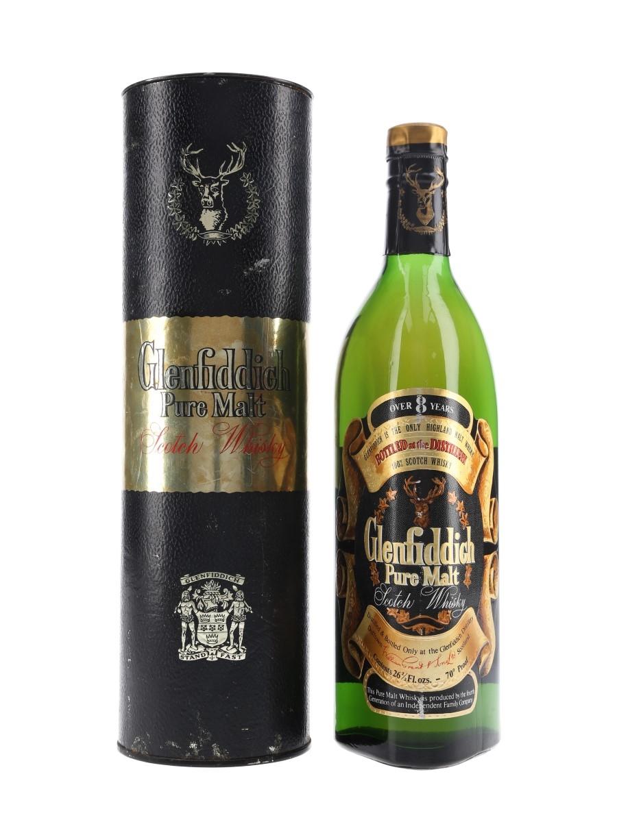 Glenfiddich 8 Year Old Pure Malt Bottled 1970s - 'The Same Glenfiddich - New Label' 75.7cl / 40%