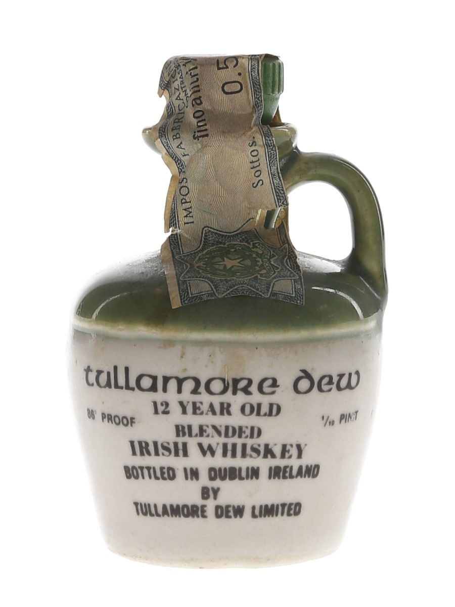 Tullamore Dew 12 Year Old Bottled 1970s - Ceramic Decanter 4.7cl / 43%