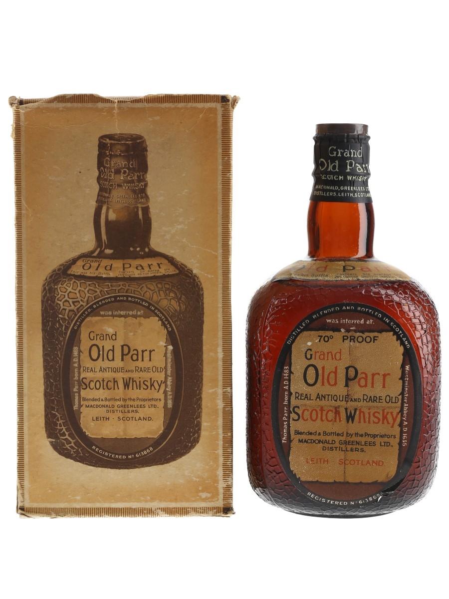 Grand Old Parr De Luxe Spring Cap Bottled 1950s 75cl / 40%