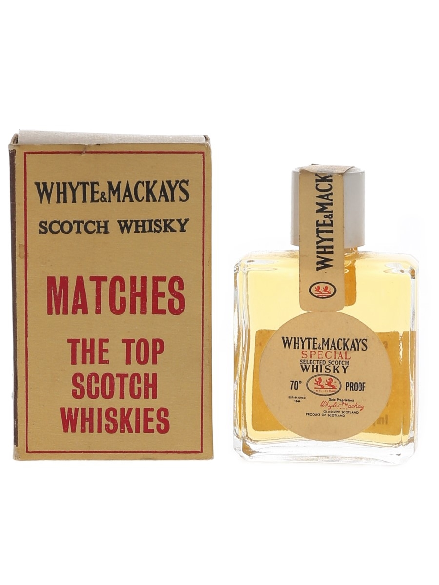 Whyte & Mackays Special Bottled 1960s-1970s - Match Box Novelty Bottles 0.95cl / 43%