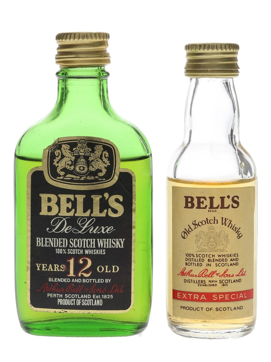 Bell's Extra Special & 12 Year Old Bottled 1970s 2 x 5cl