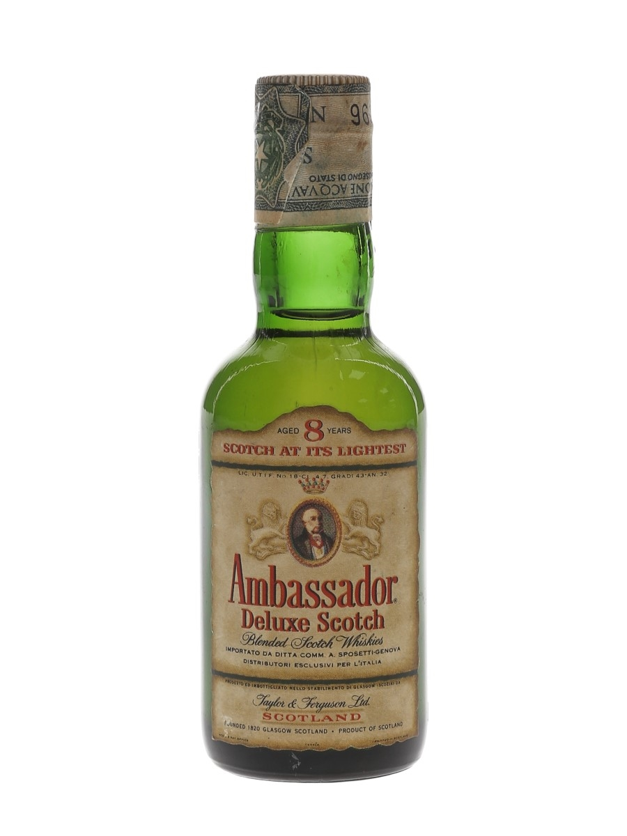 Ambassador 8 Year Old Deluxe Bottled 1960s-1970s - Sposetti 4.7cl / 43%