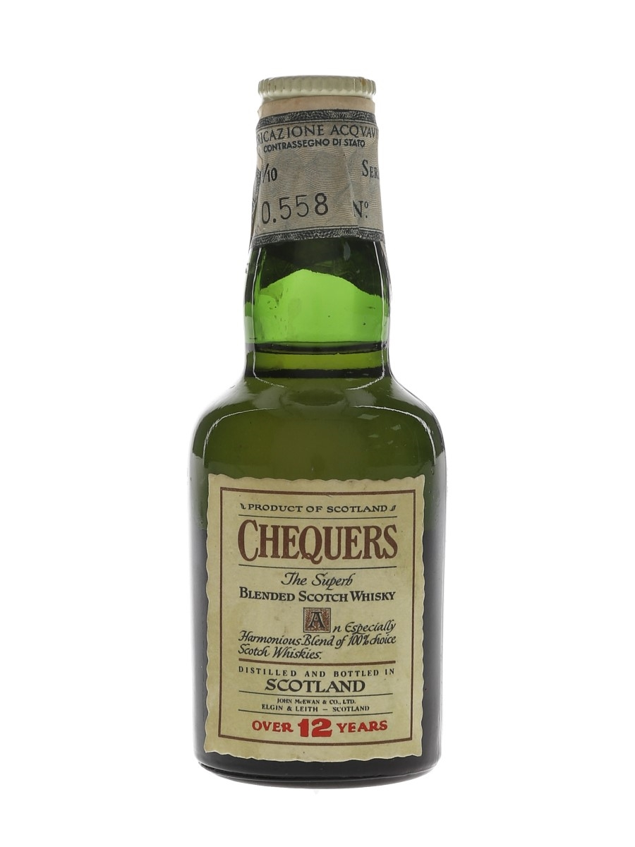 Chequers 12 Year Old Bottled 1960s -  Silvano Samaroli 4.7cl / 43%