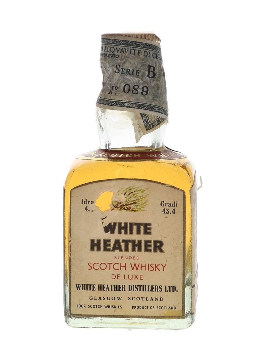 White Heather De Luxe Bottled 1970s - Rinaldi 4.7cl / 43.4%