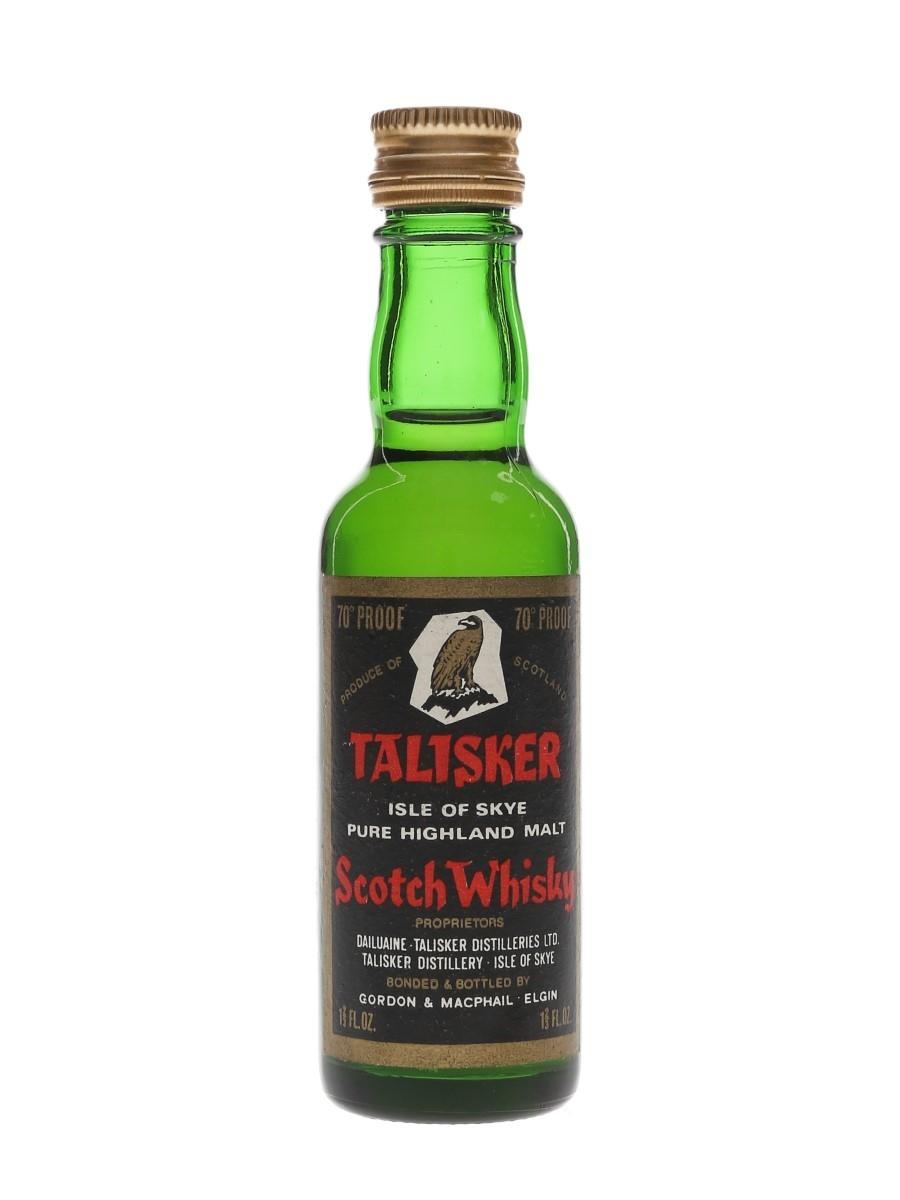 Talisker Black Label Gold Eagle Bottled 1960s-1970s - Gordon & MacPhail 4.7cl / 40%