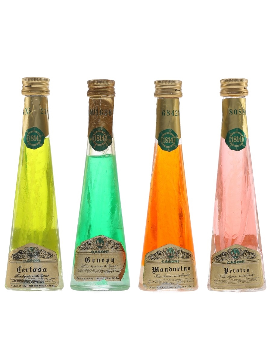 Casoni Cristallizzato Liqueurs Certosa, Genepy, Mandarino, Verisco 4 x 4cl / 40%