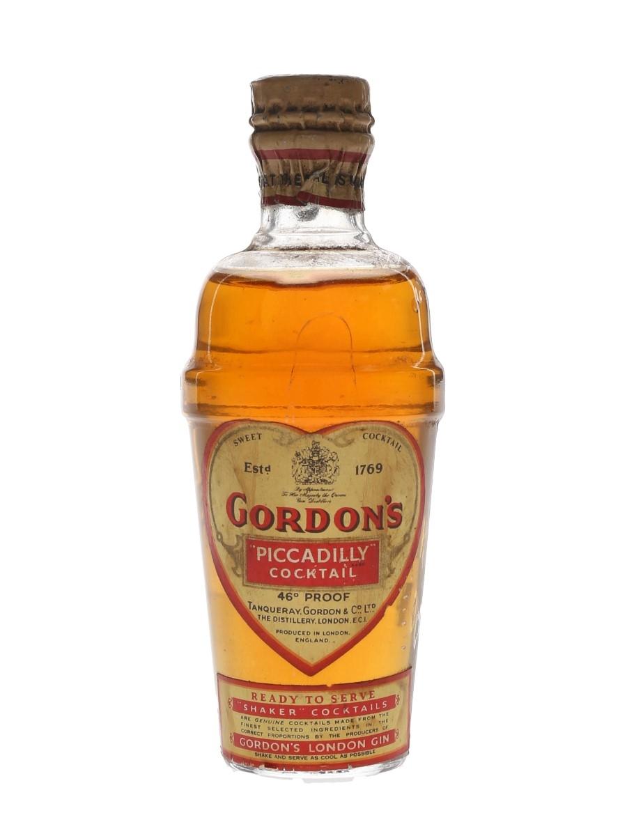 Gordon's Piccadilly Cocktail Spring Cap Bottled 1950s 5cl / 26%