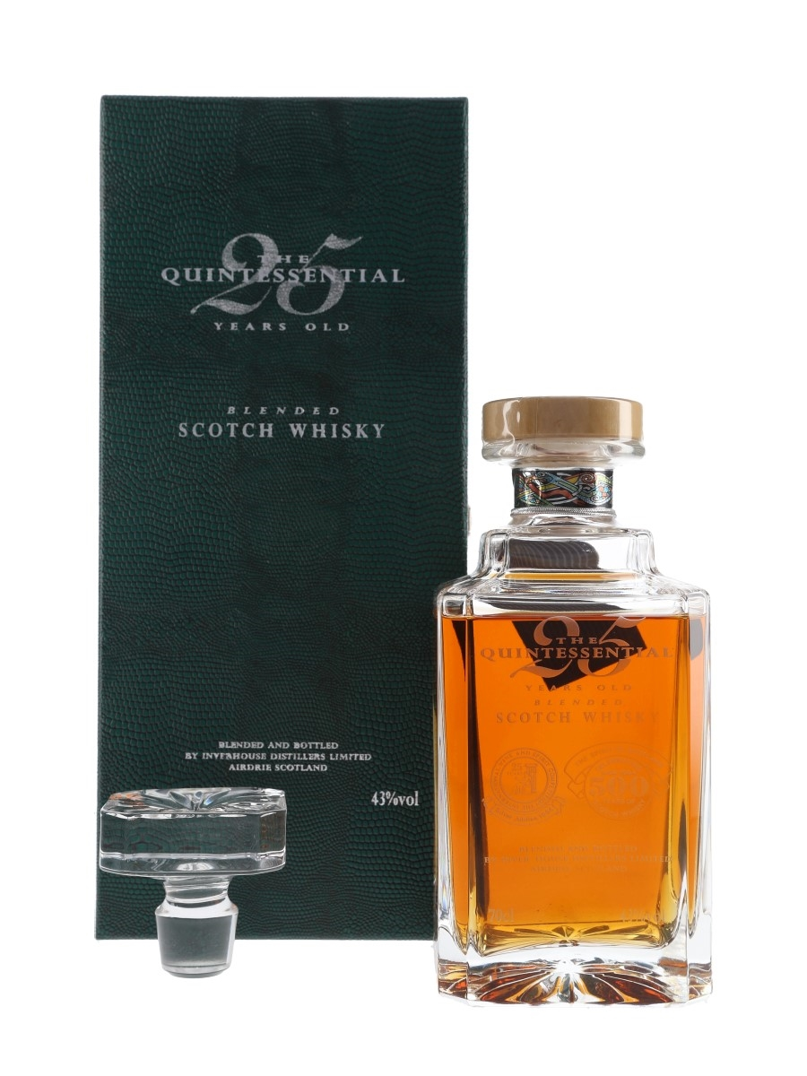 The Quintessential 25 Year Old Spirit Of Scotland Trophy Inver House Distillers - 500 Years Of Scotch Whisky 70cl / 43%