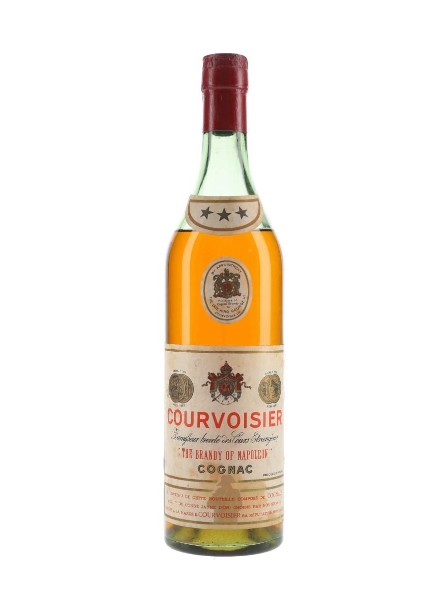 Courvoisier 3 Star Bottled 1950s-1960s 70cl