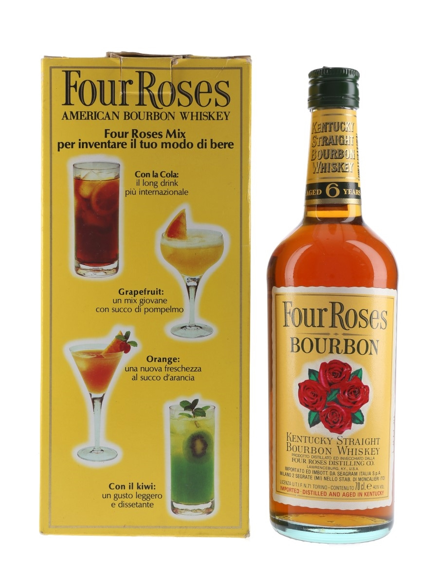 Four Roses 6 Year Old Domo Pak Bottled 1990s - Seagram Italia 70cl / 40%