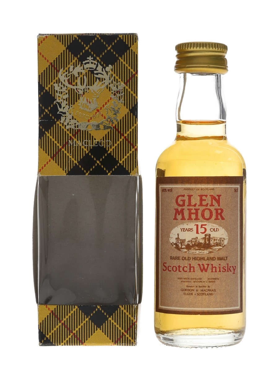 Glen Mhor 15 Year Old Bottled 1990s - Gordon & MacPhail 5cl / 40%