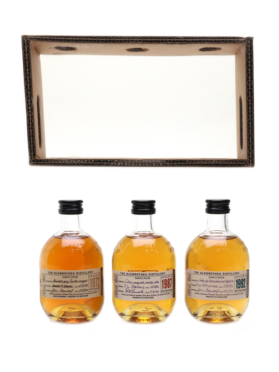 Glenrothes 1972, 1987 & 1992 Bottled 2005 3 x 10cl / 43%