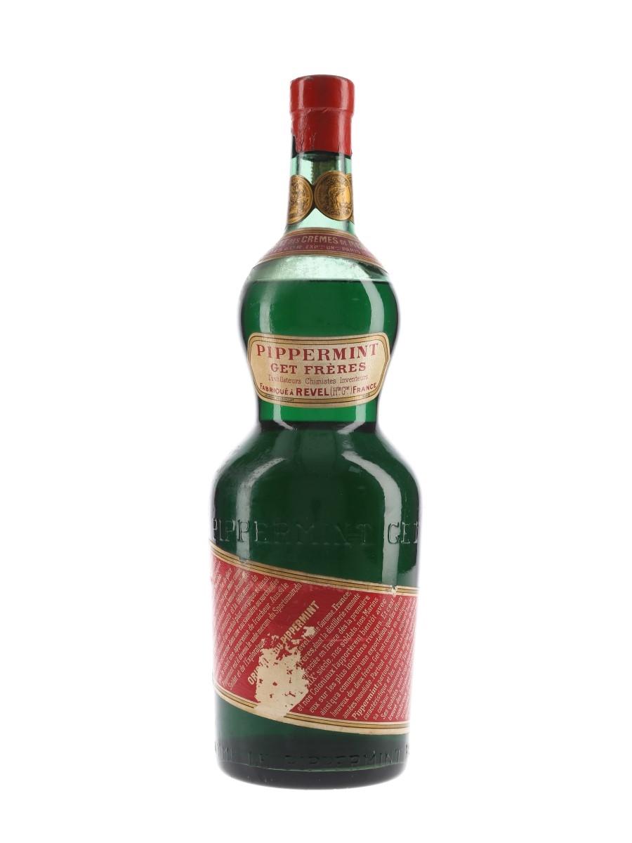 Get Freres Pippermint Liqueur Bottled 1960s 100cl