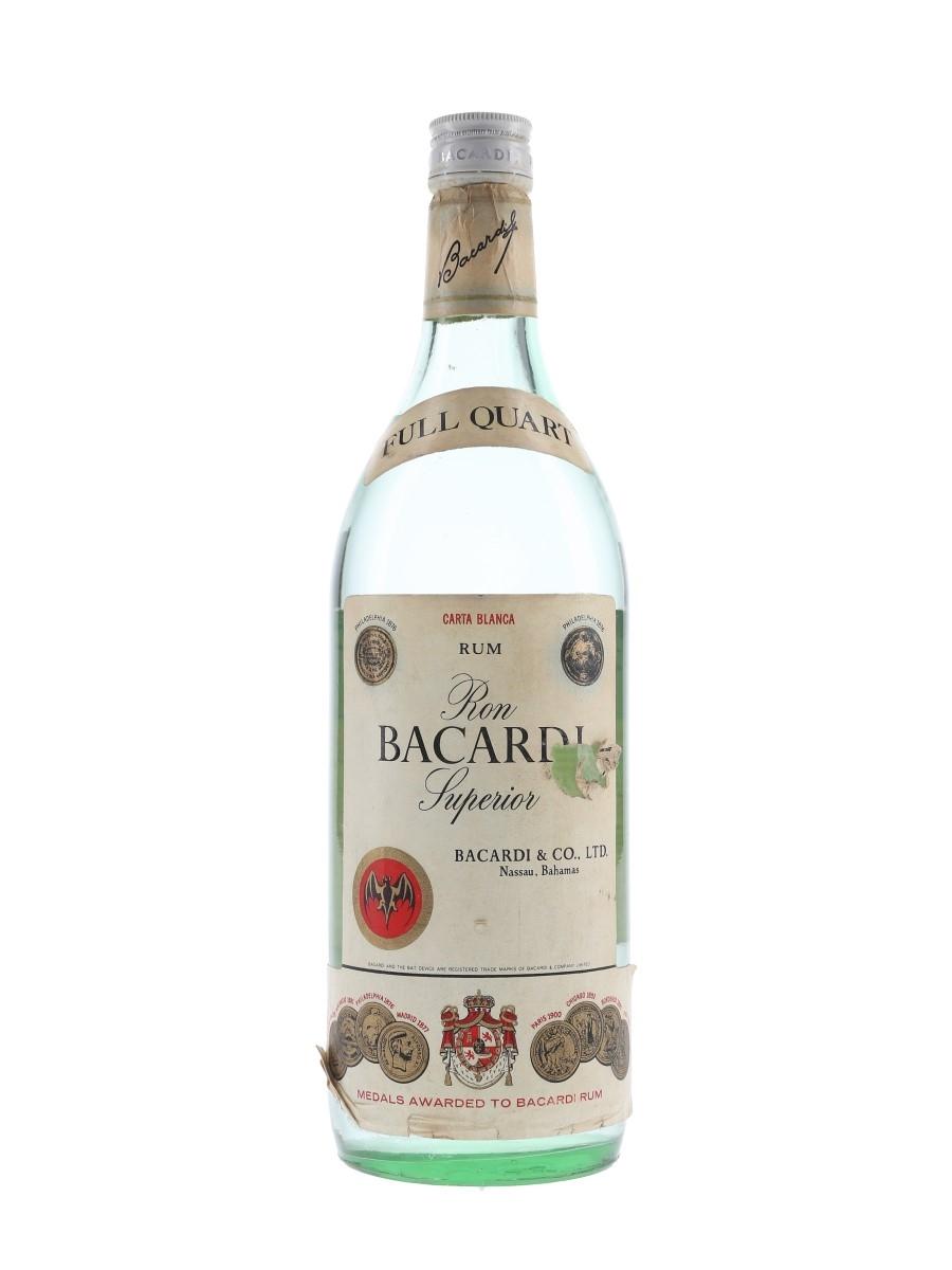 Bacardi Carta Blanca Bottled 1970s - Nassau, Bahamas 94.6cl
