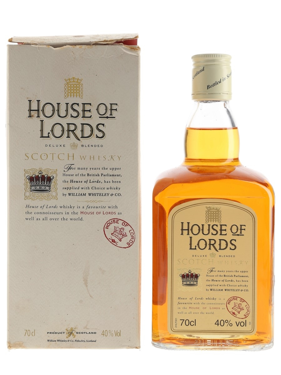 House Of Lords Bottled 1990s-2000s - William Whiteley & Co. 70cl / 40%