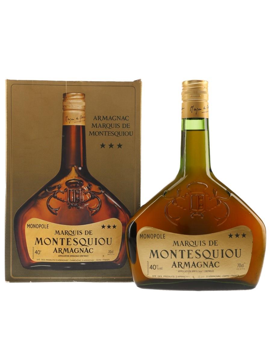 Marquis De Montesquiou Monopole 3 Star Armagnac Bottled 1980s-1990s 70cl / 40%