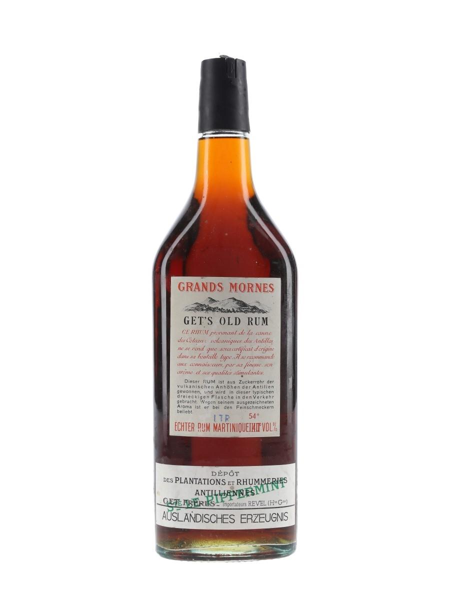 Grands Mornes Get's Old Rum Bottled 1970s - Plantations et Rhummeries Antilliennes 100cl / 54%