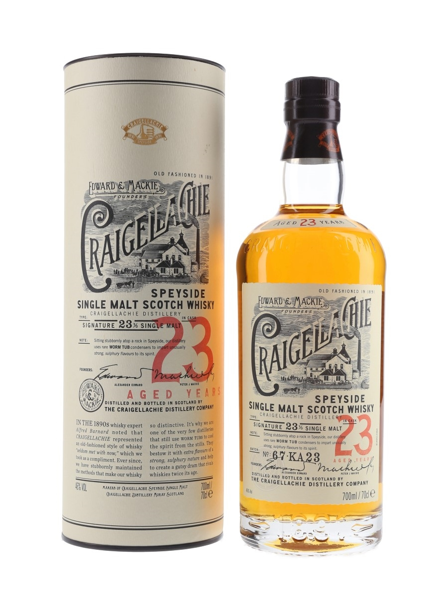 Craigellachie 23 Year Old Batch Number 67-KA23 70cl / 46%