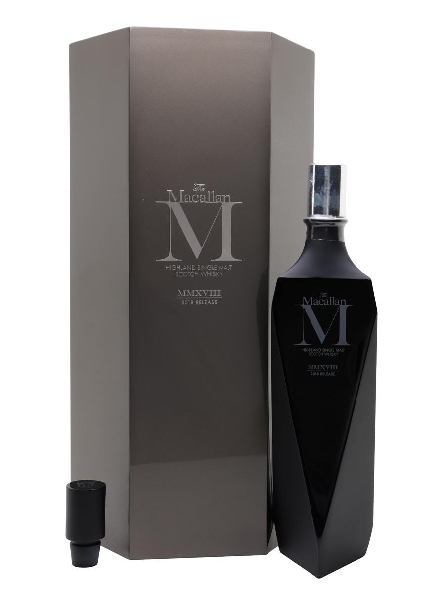 Macallan M Black Lalique Decanter 2018 Release 70cl / 44.8%
