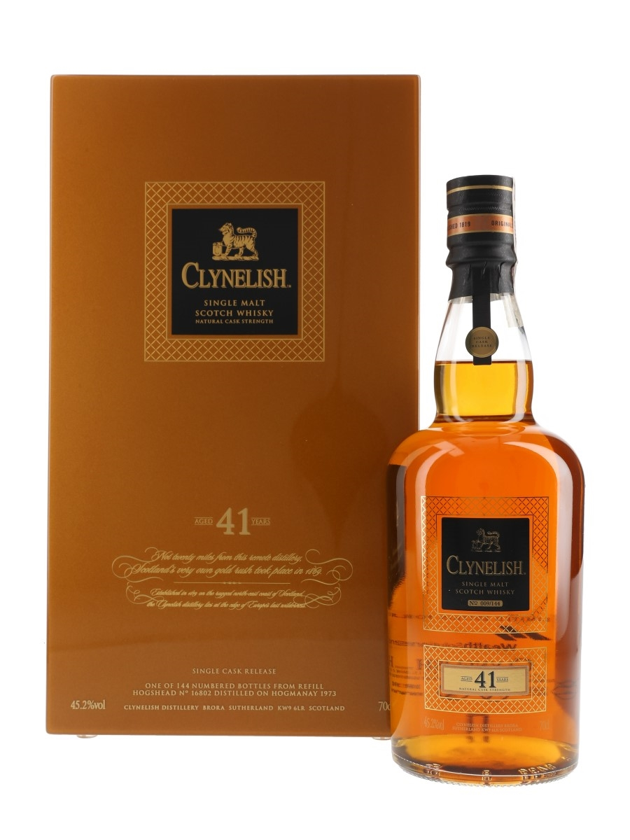 Clynelish 1973 41 Year Old The Hogmanay Cask 16802 Bottled 2015 - Wealth Solutions 70cl / 45.2%