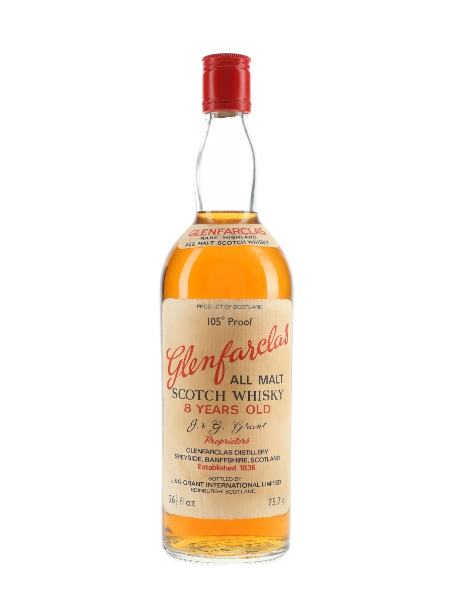 Glenfarclas Glenlivet 8 Year Old 105 Proof Bottled 1970s 75.7cl / 60%