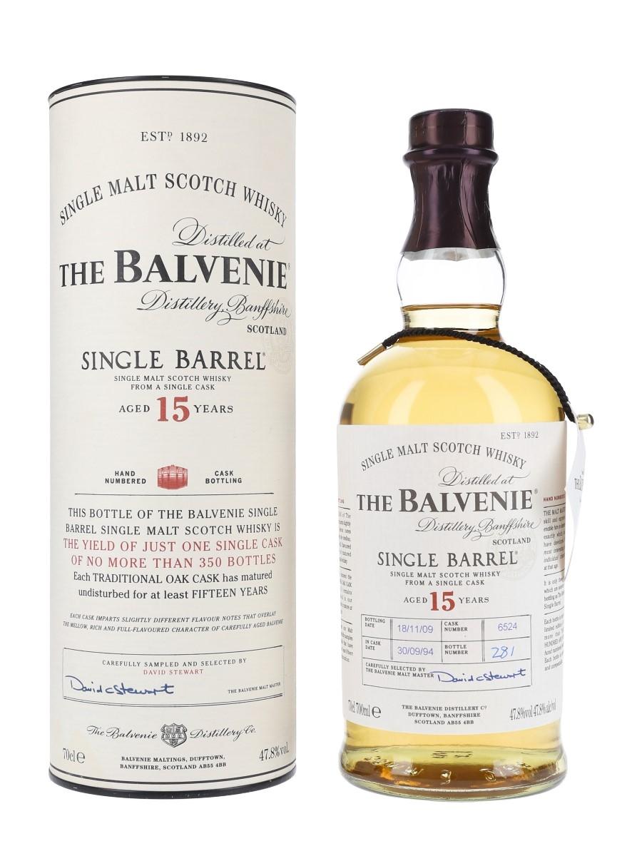 Balvenie 1994 15 Year Old Single Barrel 6524 Bottled 2009 70cl / 47.8%