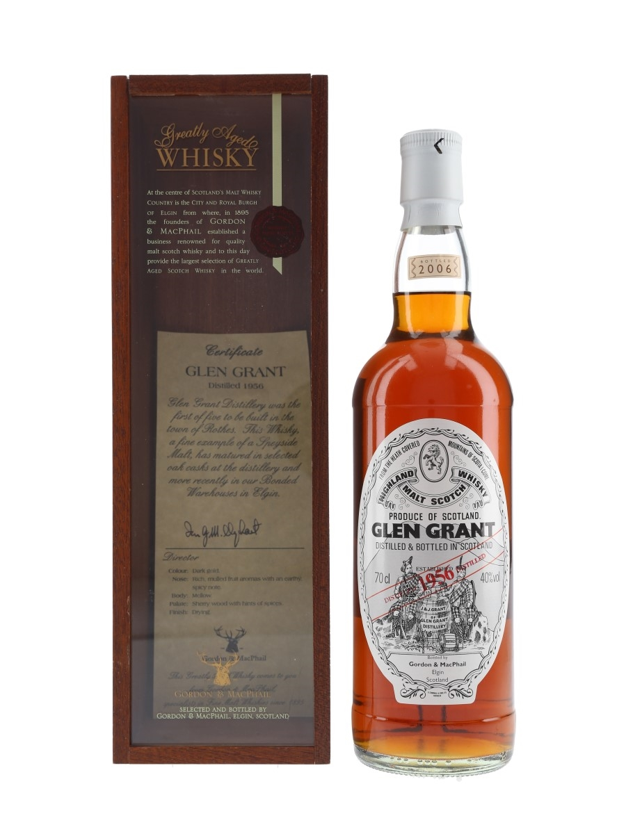 Glen Grant 1956 Bottled 2006 - Gordon & MacPhail 70cl / 40%