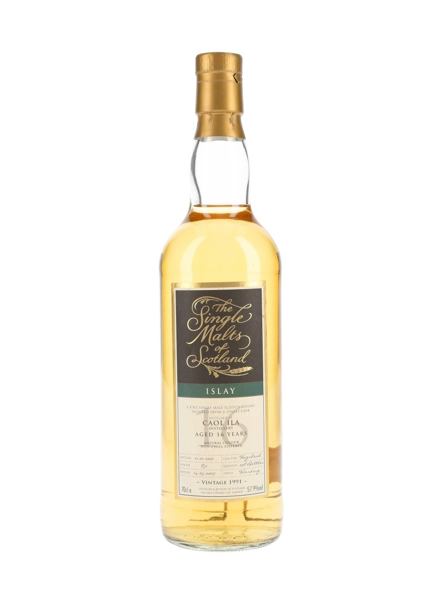 Caol Ila 1991 16 Year Old Cask 851 Bottled 2007 - The Single Malts Of Scotland 70cl / 57.9%