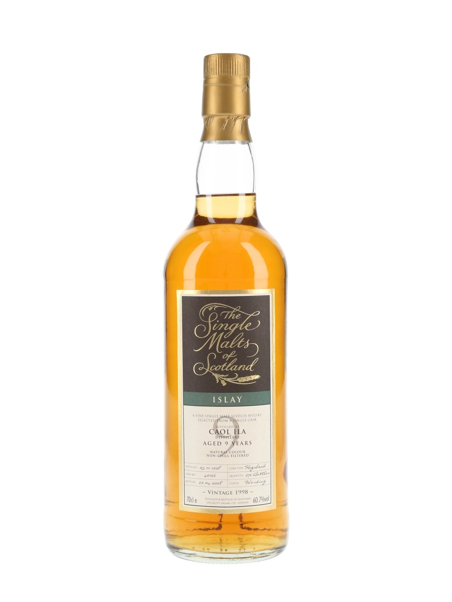 Caol Ila 1998 9 Year Old Cask 40166 Bottled 2008 - The Single Malts Of Scotland 70cl / 60.7%