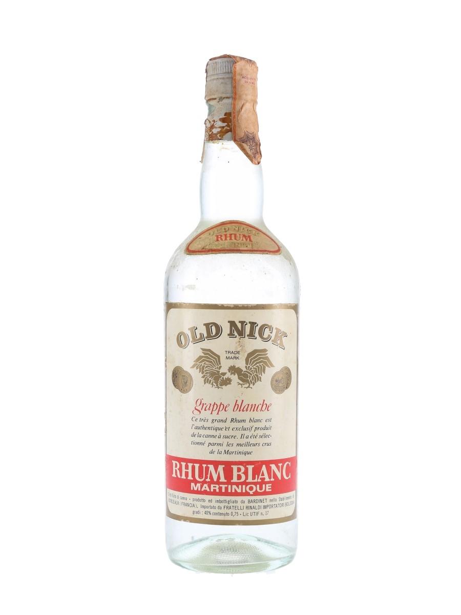 Bardinet Old Nick Rhum Blanc Bottled 1970s - Rinaldi 75cl / 40%