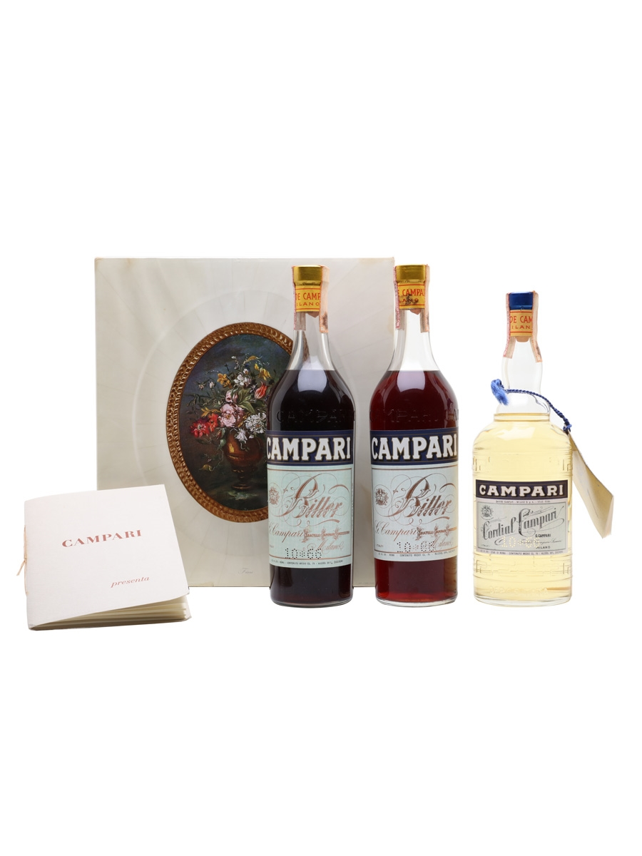 Campari Bitter & Cordial Set Bottled 1960s 3 x 75cl