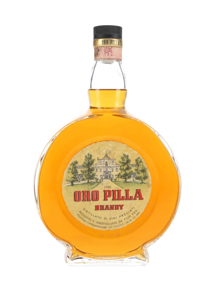 Oro Pilla 7 Year Old Brandy Bottled 1960s 100cl / 40%