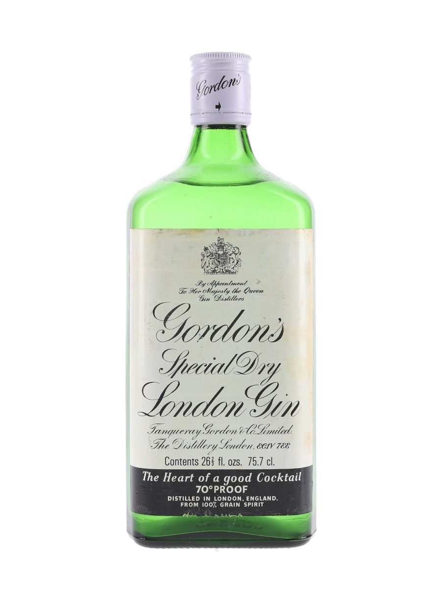 Gordon's Special Dry London Gin Bottled 1970s-1980s 75.7cl / 40%
