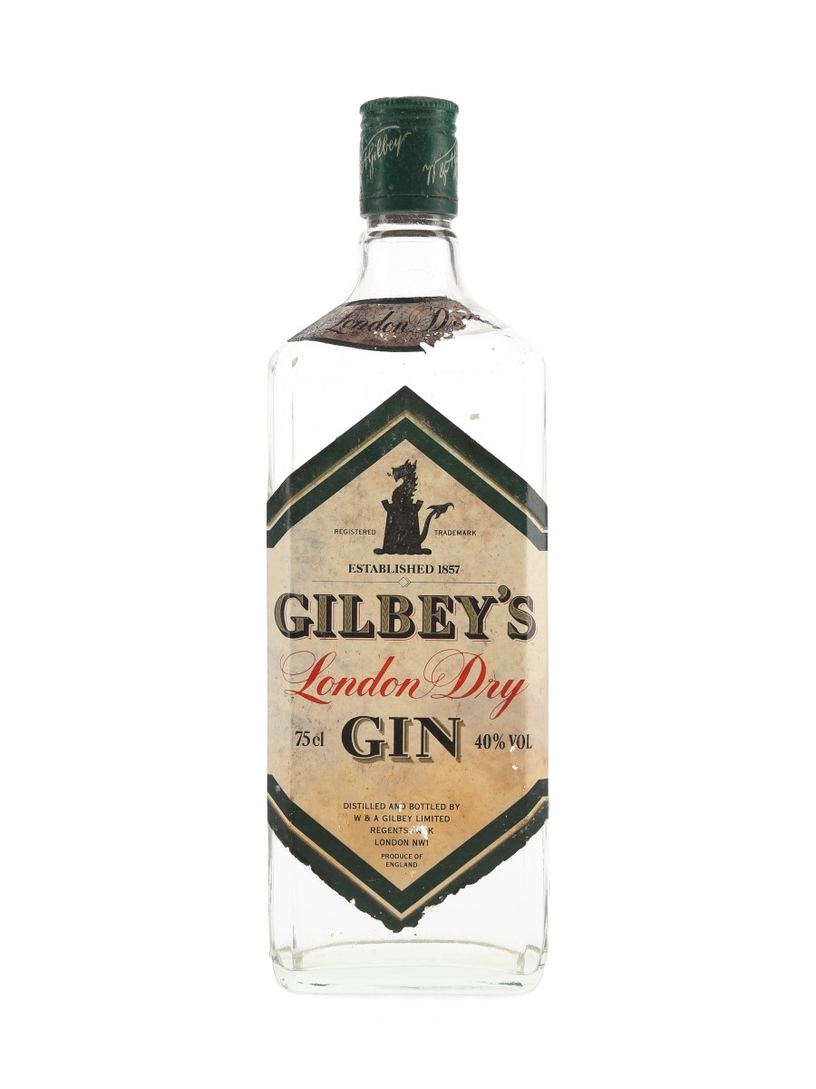 Gilbey's London Dry Gin Bottled 1980s 75cl / 40%