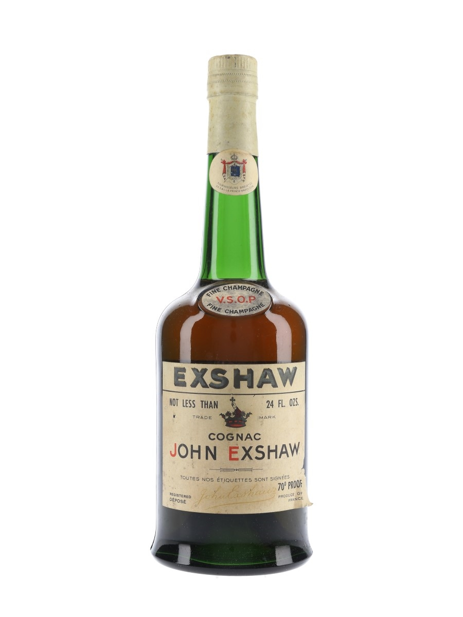 John Exshaw VSOP Bottled 1960s 68cl / 40%