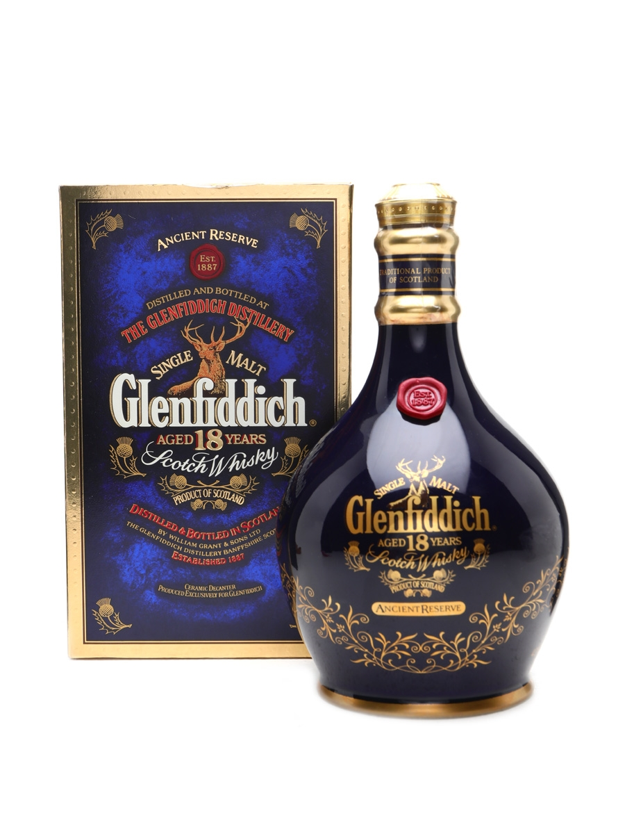 Glenfiddich 18 Year Old Blue Spode Decanter 70cl