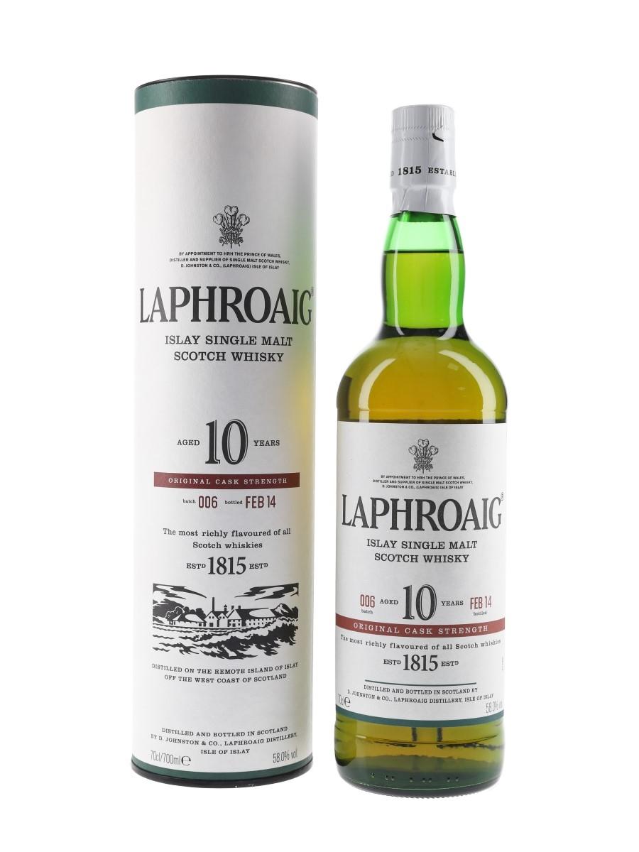 Laphroaig 10 Year Old Original Cask Strength Bottled 2014 - Batch 006 70cl / 58%